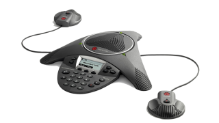 Polycom-SoundStation-IP-6000-with-expansion-microphones