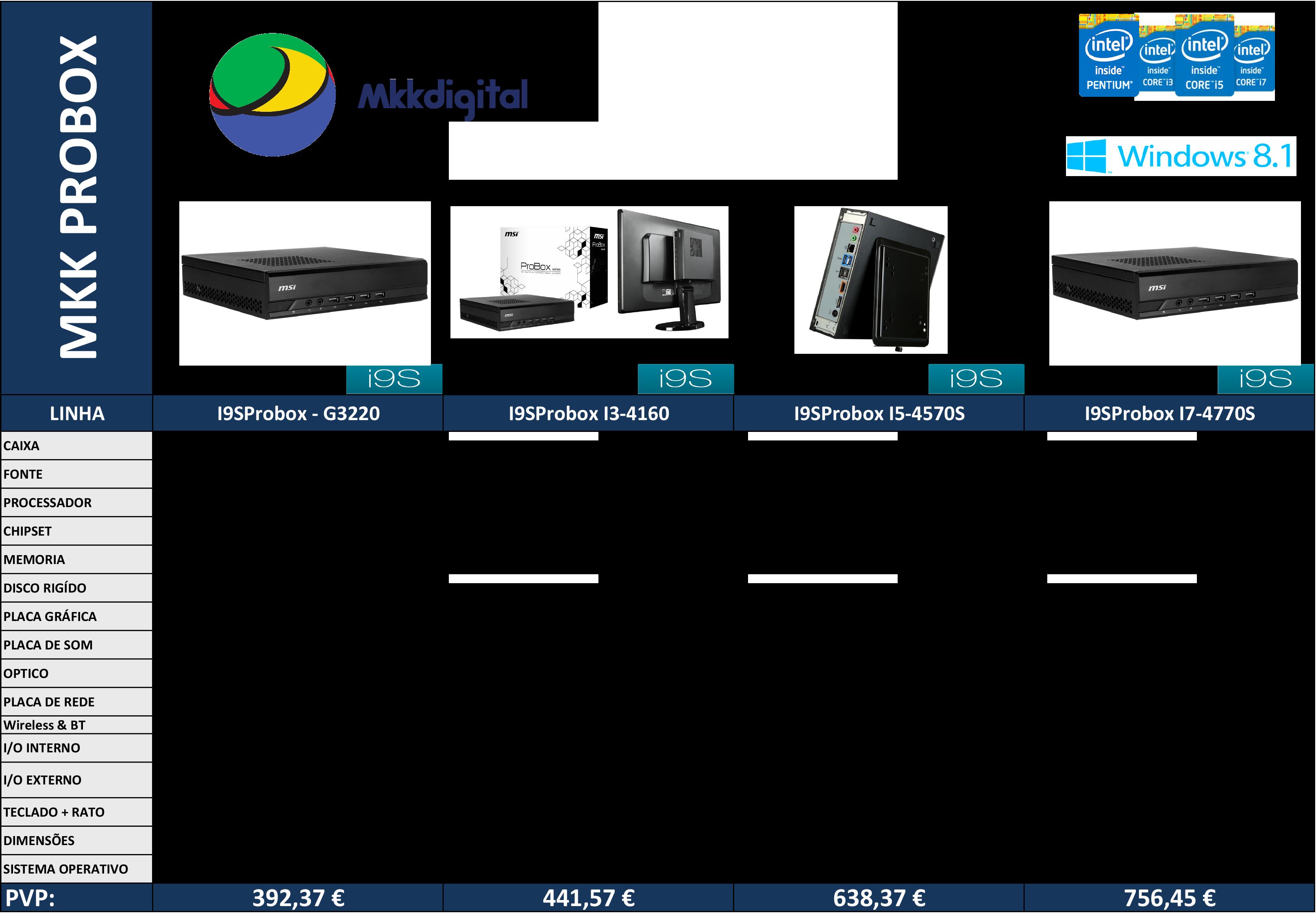 Tabela de Computadores I9S - Junho 2015 I9S - MINI PC PROBOX copy